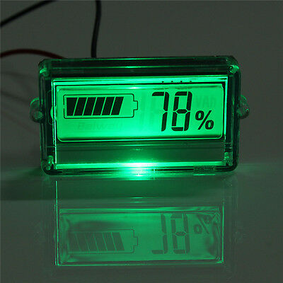 Waterproof LCD Battery Capacity Tester Indicator 12V Lead-acid Lithium+Cable HOT