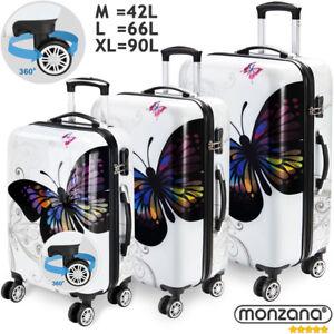 Valise-rigide-Butterfly-avec-Cadenas-a-combinaison-XL-L-M-Voyage-vacances