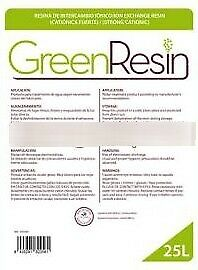 Resine  per addolcitori per eliminare Calcare,sacco da 25 litri Green Resin