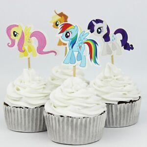 Detalles De 24 Un Mi Pony Pastel Cupcake Topper Cumpleaños Infantil Decoración Para Fiesta Temática Levantado Ver Título Original
