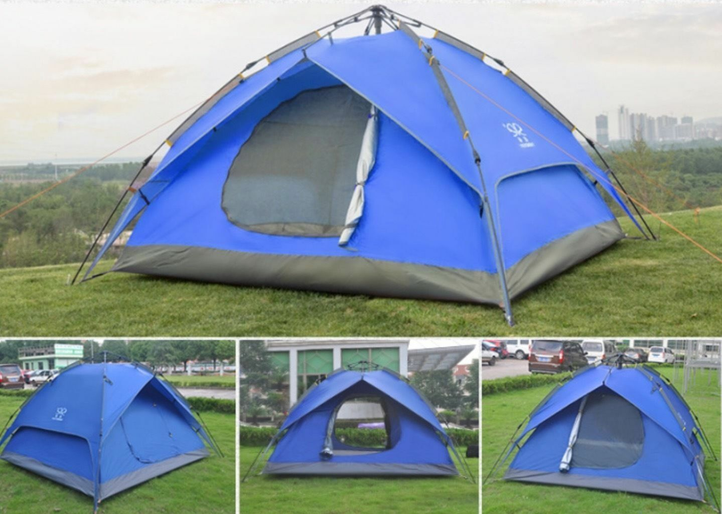 NEUF 3-4 Camping-Dôme-Tente - 3-4 NEUF - Personne-Automatique-Double-couche - Travel-Hiking-Shel a20532