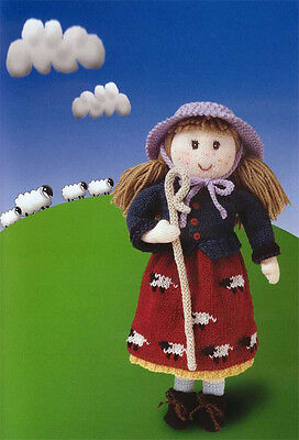 Knitting Pattern- Little BO Peep doll and clothes pattern in 4 ply wool to knit
