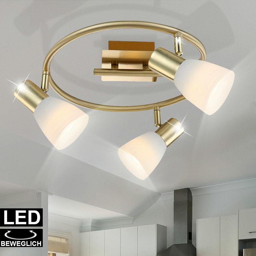 LED Spots Decken Design Leuchte Glas Lampe weiß Büro Beleuchtung verstellbar