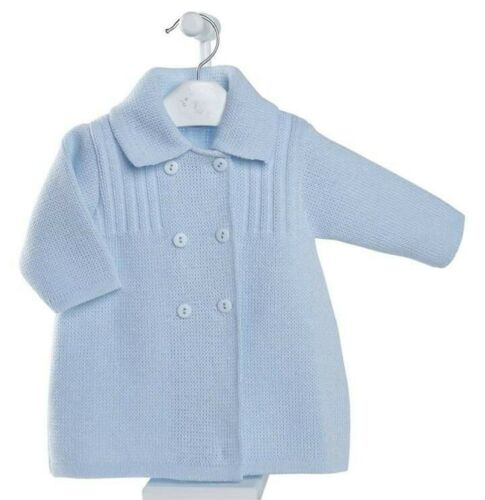 BNWT Stunning Boys Knitted Cardigan Coat 3-6 months Super Soft Portuguese knit