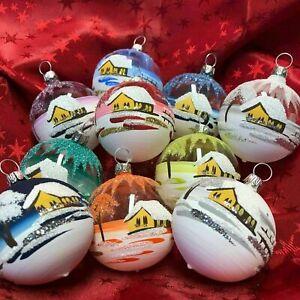 """Christbaumkugel """"Mini"""" Glas-Kugel Weihnachtskugel Baumbehang Handarbeit Lauscha"""