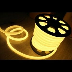 360 Degree LED Neon  Rope Light Party DIY Project Outdoor Decor 110V Cold White