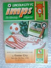 1990 LINCOLN CITY v EXETER CITY, 5th May (League Division 4)
