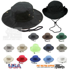 48f60e5169d Boonie Bucket Hat Cap 100% Cotton Fishing Military Hunting Safari ...