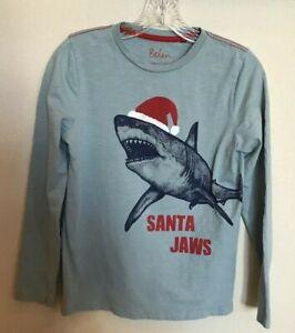 BODEN-Santa-Jaws-Boys-Long-Cotton-Sleeve-Tee-Ages-11-12-152-CM