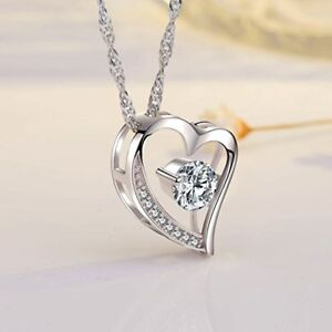 Raisonnable Forever Love Coeur Diamant Collier Pour Femme Valentine Cadeau D'anniversaire-afficher Le Titre D'origine Convient Aux Hommes Et Aux Femmes De Tous âGes En Toutes Saisons
