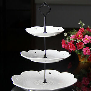 Image is loading 2-3-Tier-Cake-Plate-Stand-Cupcake-Fittings- & 2/3 Tier Cake Plate Stand Cupcake Fittings Silver Golden Wedding ...