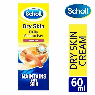 Scholl Dry Skin Daily Moisturiser Foot Cream 60ml Natural Moisturising Factors