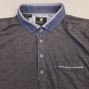 Steel-amp-Jelly-Mens-Jersey-Polo-Shirt-Size-XL-Cotton-Solid-Gray