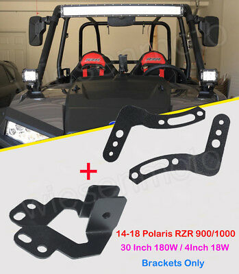 For Polaris General Enginehood Upper Hood Light Pods Side Pillar Mount Bracket