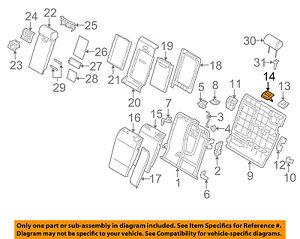 bmw oem 04 10 x3 rear seat seat belt guide left 52203410325 ebay Prius V Belt Diagram image is loading bmw oem 04 10 x3 rear seat seat