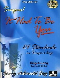 Jamey Aebersold Jazz It Had To You 24 Standards For Singers Book & 2 CDs 2003 PB