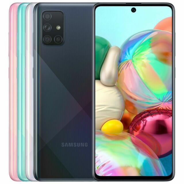 "Samsung Galaxy A71 SM-A715F/DS Factory Unlocked 6.7"" sAMOLED 64MP Quad Camera"