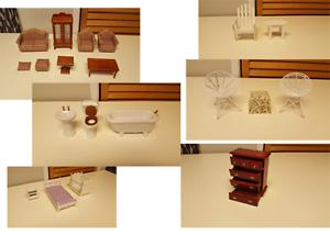 Surtido muñeca casa muebles, Lote a granel muchas piezas Melissa & Doug