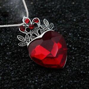Charm-Descendants-Red-Stone-Crystal-Heart-Crown-Pendant-Necklace-Women-Jewellery