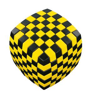 V-CUBE 7 x 7-illusione-NERO/GIALLO-CUBO MAGICO