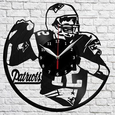 """New England Patriots Vinyl Record Wall Clock Fan Art Home Decor 12/"""" 30cm 2046"""