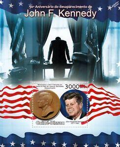Le Président Américain Jfk/john Fitzgerald Kennedy Neuf Sans Charnière Timbre Feuille (2013 Guinée-bissau)-afficher Le Titre D'origine