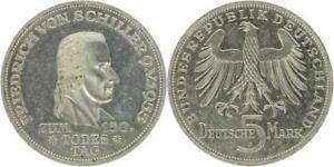 Brd 5 Dm 1955 F Friedrich Von Schiller Jaeger 389 Vz Ebay