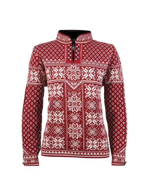 NEW    Dale of Norway 100% Norwegian Norwegian Norwegian Wool  PEACE  Sweater RED 7c4843