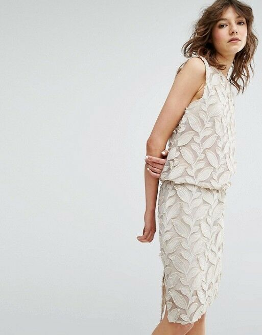 SAMSOE & SAMSOE - NEW - Cream Mayer Lined Dress - Turtle Dove - Size Small