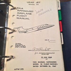 gates learjet model 25 airplane flight manual ebay rh ebay com learjet flight manual flight manual learjet 60