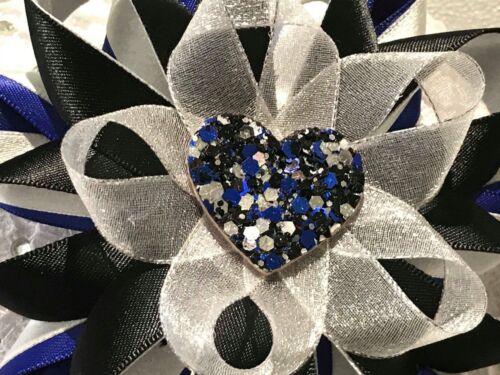 Handmade sparkle glitter heart large Harajuku romany hair bows different colours
