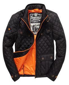 New Mens Superdry Apex Quilt Jacket Black Ebay