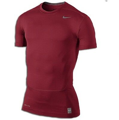 Nike Pro Core Compression 2.0 Top II Tshirt T-shirt shirt red NEW 449792-653