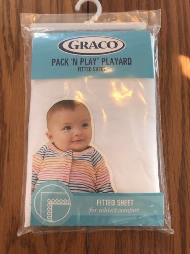 Graco Pack N Play Playard Quick Connect fitted sheet White Ships N 24h