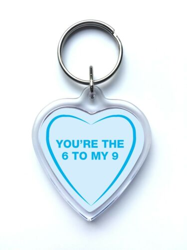 Love Heart Shaped Keyring Gift Naughty Funny Rude Adult