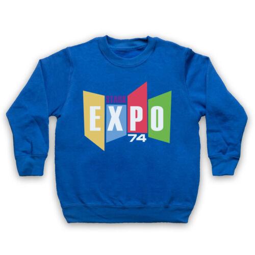 Stark Expo 74 Retro Iron Man Officiel Super Héros Tony Adultes /& Enfants Sweat