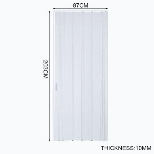 Utility Indoor Sliding Internal Doors PVC Folding Door Panel Bi Divider 6 10mm