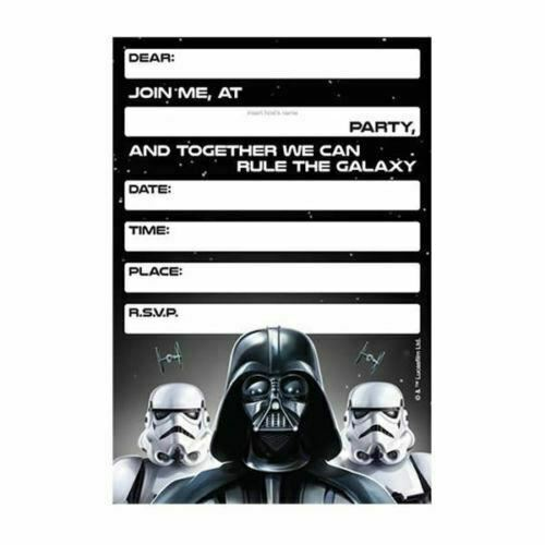 Star Wars Invitations X 8 Birthday Invites Party Supplies For Sale Online