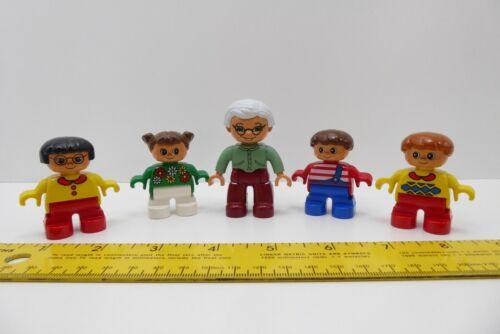 5 Lego Ville Duplo Grandmother and Children Mini Figures Grandma Grandchild Lot