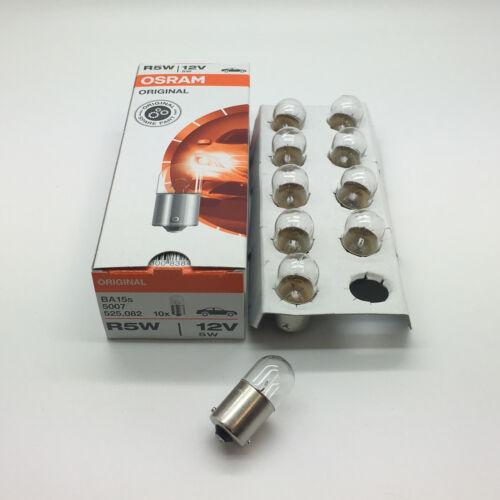 E Approved 10 x Osram 207 R5W BA15S Rear Tail Light Car Bulb 12v 5w 5007