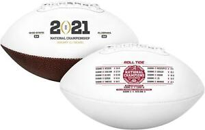 Alabama Crimson Tide CFP 2020 National Champions White Panel Football