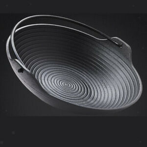 Portable-Cast-Iron-Cooking-Frying-Griddle-Skillet-Grill-Fry-Pan-Pot-Outdoor