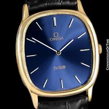 1979 OMEGA DE VILLE Vintage Mens Handwound Dress Watch - 18K Gold Plated & Steel