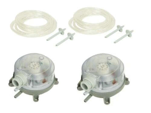 2 X KITCHEN CANOPY AIR SUPPLY /& EXTRACT PRESSURE SWITCH KITS FOR GAS INTERLOCK
