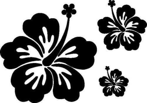 20 Hibiscus Flower Surf Car//Van//Wall////Room Vinyl Stickers//Decals Any Colour