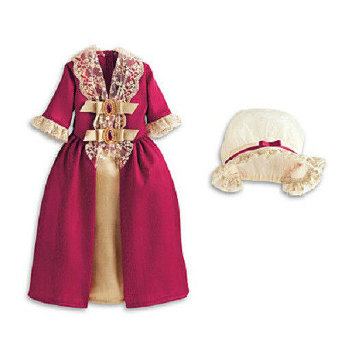 American Girl Felicity's Red GALA Holiday GOWN DRESS Outfit for Felicity Doll