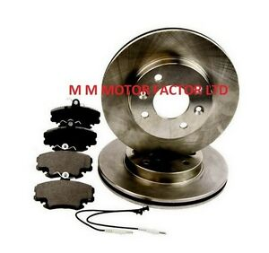 RENAULT-CLIO-MK2-98-05-1-1-1-4-1-6-1-9-FRONT-VENTED-BRAKE-DISCS-AND-PADS-SET