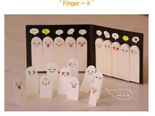 Kawaii Korean Stationery 200 Pages Fingers Sticker Memo Sticky Notes, 1 Pcs