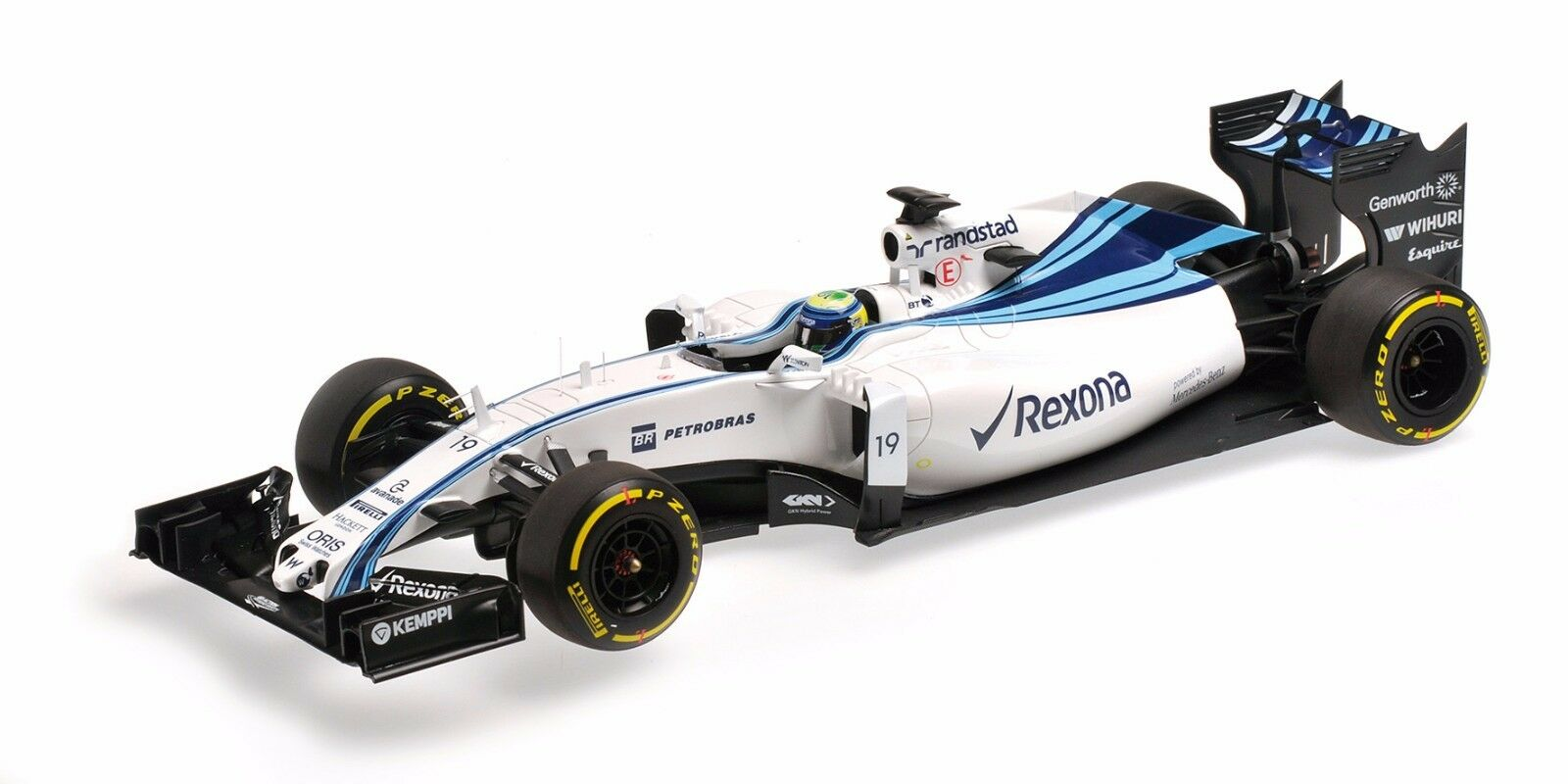 Felipe massa williams martini fw 37 abu dhabi gp 2015 minichamps 1,18 f1