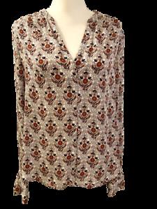 Joie from Stitch Fix Womens 100% Silk Floral Paisley Shirt Top Blouse M Medium